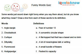 Funny Word Quiz
