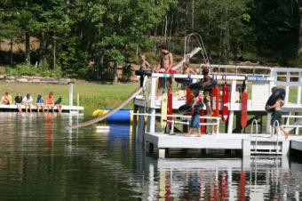 Fun at the lake at Camp Chatuga