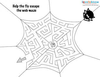 Halloween Art Activities 2 maze v2