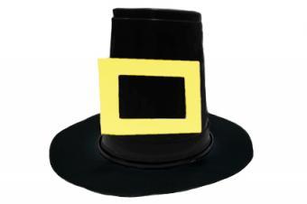 Pilgrim Hat Place Card