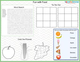Fun with food placemat