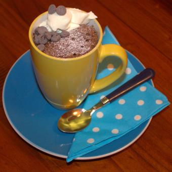 double choc mug cake