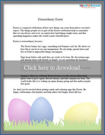 Extraordinary Easter speech for kids