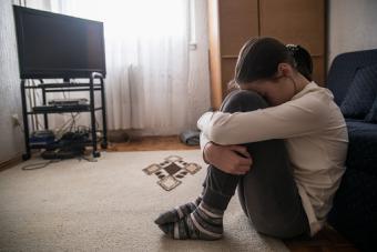 Sad teen girl