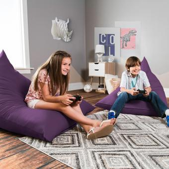 Jaxx Pivot 4-Foot Teen Bean Bag Chair with Cloth Cotton Cover, Violet