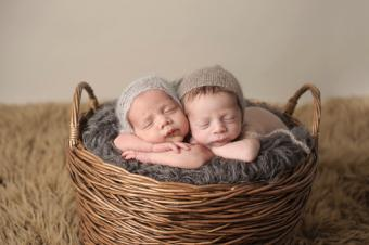 Peaceful Newborn Twins