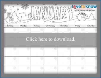 Twelve Month Printable Calendar