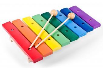 Toy wood xylophone