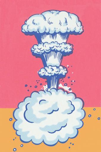 Colorful explosion illustration
