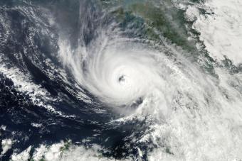 The eye of a hurricane