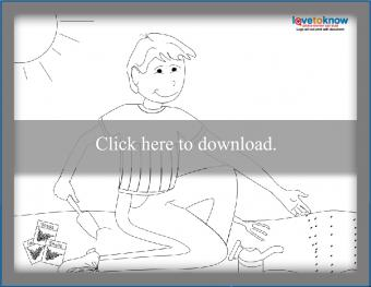 Boy Planting Seeds coloring page