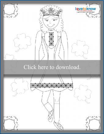 Irish step dancer coloring sheet