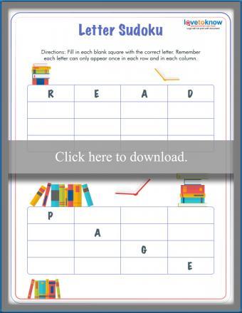 Book-Themed Letter Sudoku