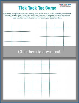 Printable Tick Tack Toe board game