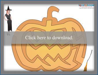 Halloween Printable Activites maze thumb