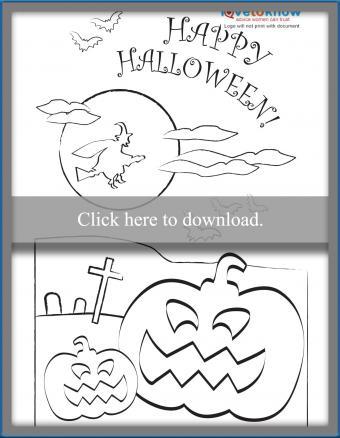 Happy Halloween Coloring Card