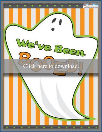 Halloween boo ghost sign