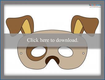 Colored dog mask
