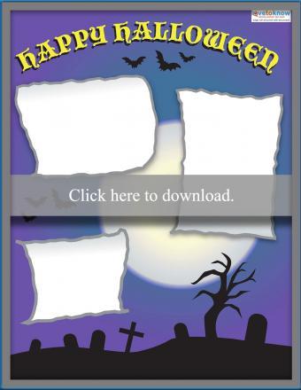 Graveyard Halloween scrapbook layout