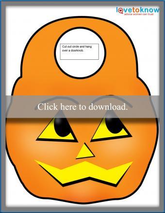 Halloween Pumpkin door hanger
