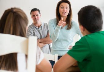 parents scolding children