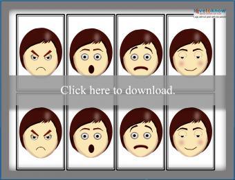 Printable Facial Expressions memory game