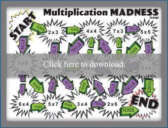 Printable Multiplication Madness game