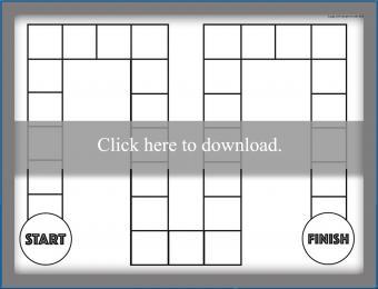 Printable black and white basic game board