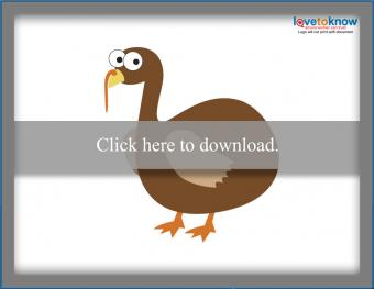 Printable Pin the Feathers on the Turkey game