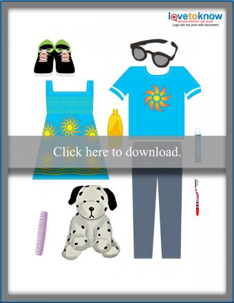 Printable Pack the Suitcase Game