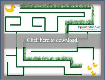 duck maze printable