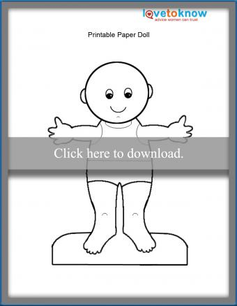 printable baby paper doll