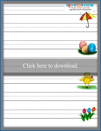 Spring handwriting paper printable