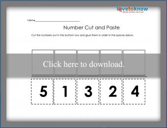 Number cut and paste