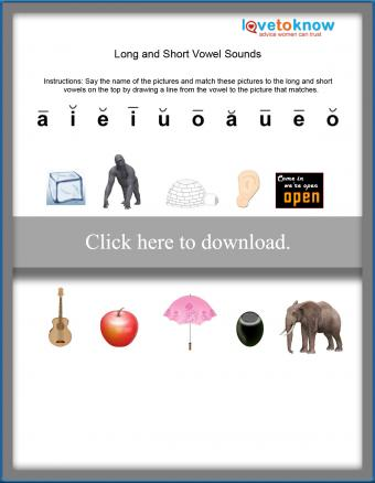 Long and Short Vowel Phonics Printable