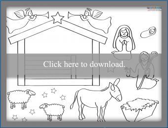 Printable Nativity Scene Printable PDF