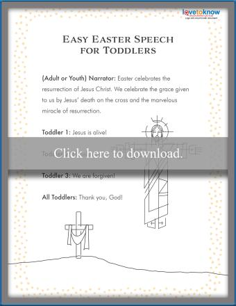 Toddler Easter Speech