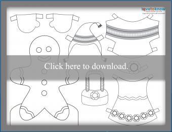 Gingerbread girl paperdoll printable PDF