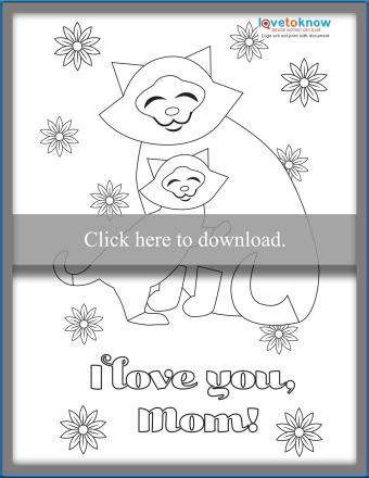 Kitty hugs printable card