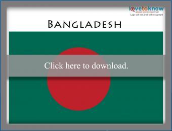 Full color Bangladesh flag printable
