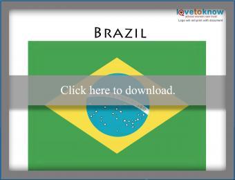 Full color Brazil flag printable