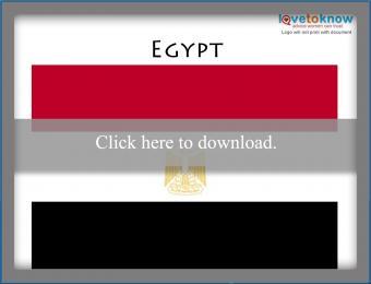 Full color Egypt flag printable
