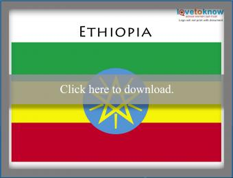 Full color Ethiopia flag printable