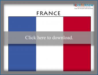 Full color France flag printable