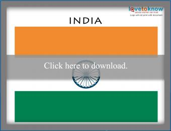 Full color India flag printable