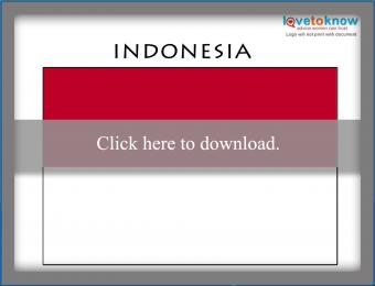 Full color Indonesia flag printable