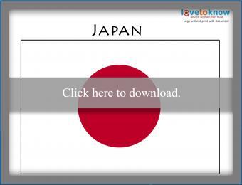 Full Color Japan flag printable