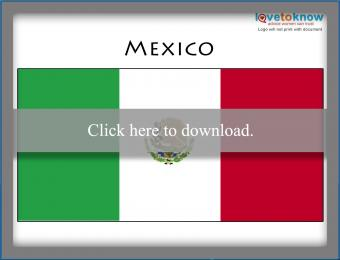 Full color Mexico flag printable
