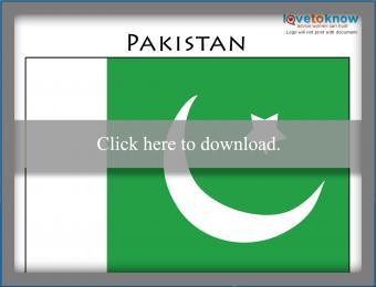 Full color Pakistan flag printable