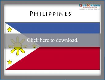 Full color Philippines flag printable